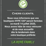 Hello la #HypeFamily vos boutiques de l'Union, Ramonville et Toulouse sont fermées aujourd'hui.  On se retrouve demain dès 09h30.  Bon 14 juillet à tous !   #toulouse #vapestagram #instavape #vape #toulousemaville #vaping #ecigarette #highend #eliquidefrancais #stoplaclope #vapetoulouse