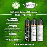 ℝ𝕖𝕝𝕚𝕘𝕚𝕠𝕟 𝕁𝕦𝕚𝕔𝕖 débarque chez Hype Vap avec 3 saveurs ! Ces liquides sont vieillis en fût de chêne dans le Pays Basque, conditionnés en flacons de 50ml avec un ratio PG/VG de 30/70. Retrouvez les dès à présent dans les boutiques Hype Vap, et sur notre site ! 😉💨  @religionjuice #religionjuice #eliquide #instavape #vapstagram #vapefrance🇫🇷 #vapefrance #toulousemaville